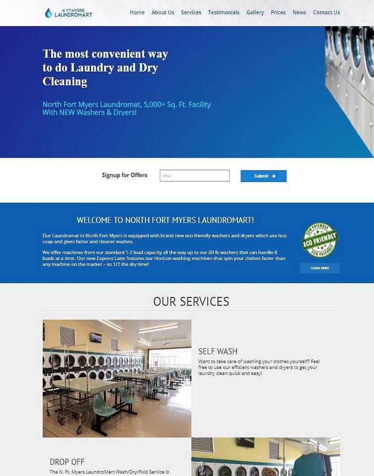 dry cleaning business website