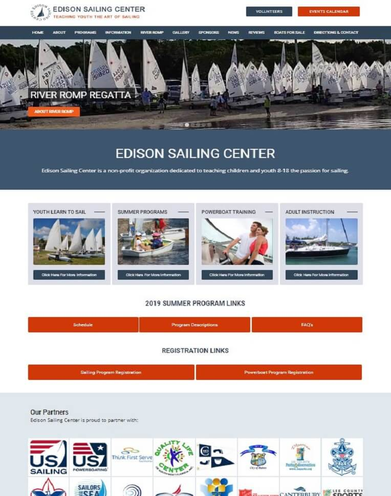 sailing club website