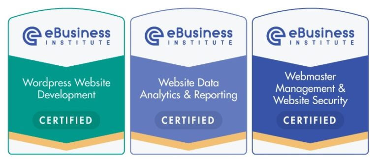 ebusiness institute web design certification